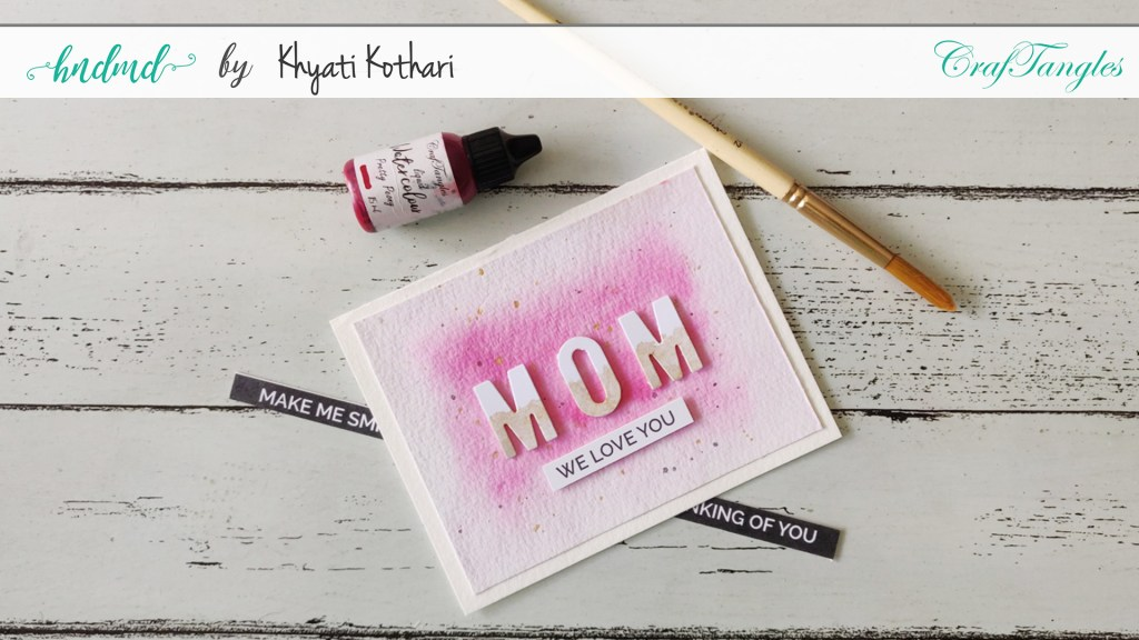 CAS Mother's Day Card Cas watercolor mothers day Card 1