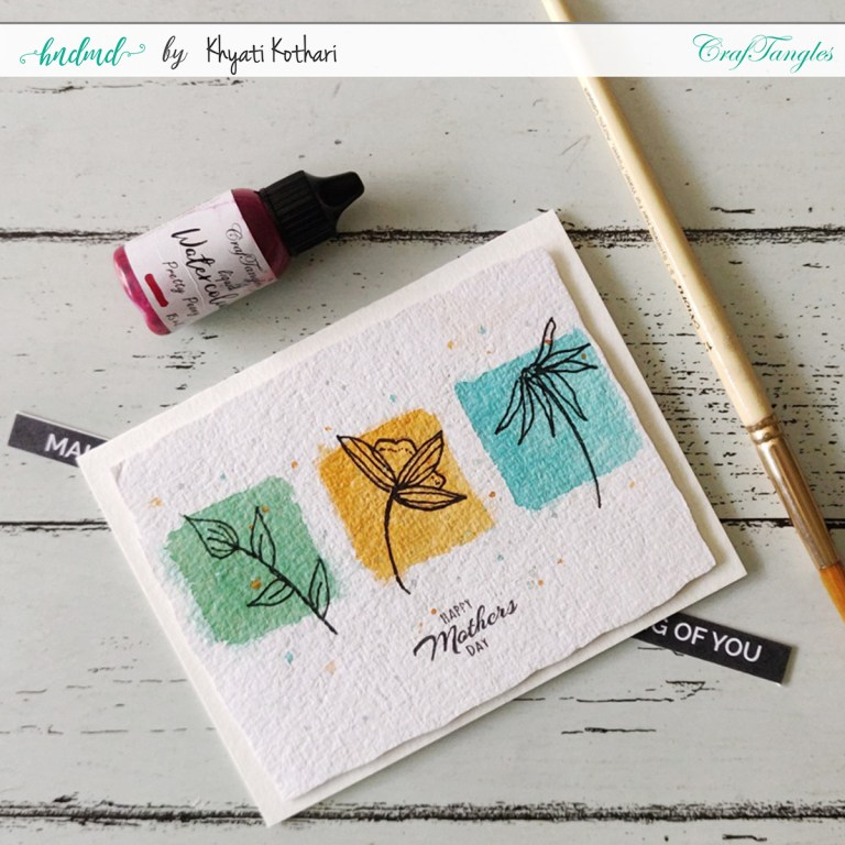 DIY Watercolor Mother's Day Cards Simple doodle card 2