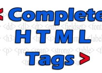 Complete HTML Tags List