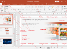 Different Parts of PowerPoint Window