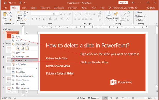 How to Delete a Slide in PowerPoint