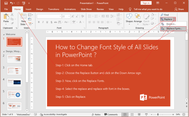How to Change Font Style of All Slides in PowerPoint