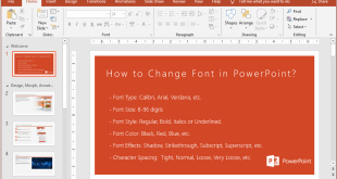 How to Change Font in PowerPoint