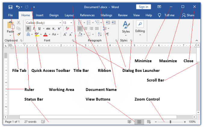 Different-Parts-of-Microsoft-Word-Window