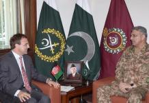 افغان سفير عمر زاخېلوال له خوا آرمي چيف جنرل باجوه سره ملاقات