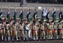 يوم پاکستان په پريډ کښې د متحده عرب امارات پوځى دستې په وړومبى ځل ګډون کړے