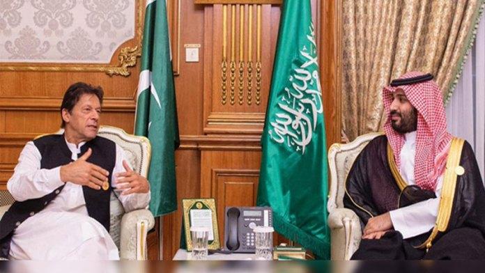 وزيراعظم عمران خان د سعودى عرب ولى عهد محمد بن سلمان سره ملاقات کړېدې