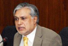 Finance Minister Ishaq Dar