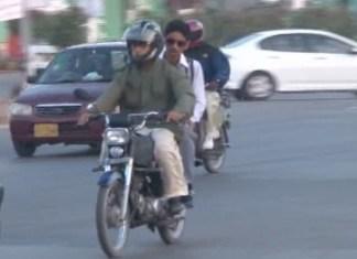 Pillion riding banned during first 10 days of Muharram in Peshawar