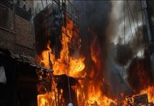 Blaze at shoe factory injures five in Batapur