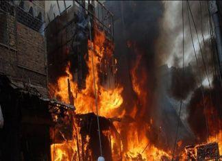 Blaze at shoe factory injures five in Batapur