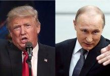 US President Trump and Russia President Putin
