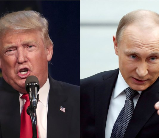 US President Trump and Russia President Putin