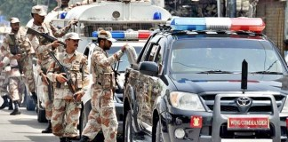 Rangers arrest suspects in Karachi, recovers huge cache of weapons