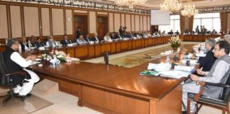 PM Khaqan Abbasi chairs federal cabinet meeting