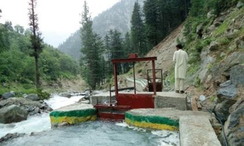 Micro hydropower station construction in KP