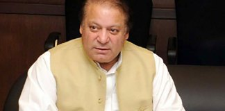 Nawaz Sharif chairing PML-N meeting