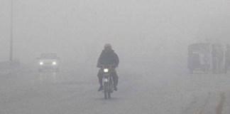 Dense smog, fog in Punjab