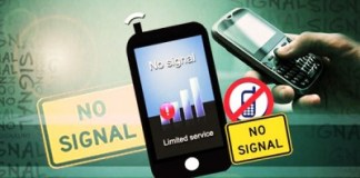 Mobile phone service suspended