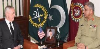 US Defence Secretary James Mattis calls on COAS General Qamar Javed Bajwa