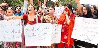 Transgender Community protest in Peshawar
