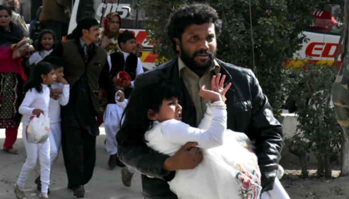 Quetta church blast: police lodges report
