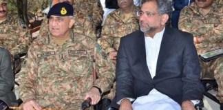 PM Khaqan Abbasi and COAS Qamar Bajwa