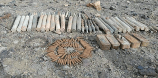 Huge cache of hidden weapons recovered in Lower Orakzai