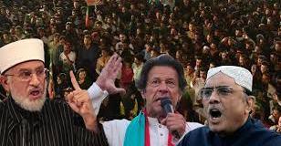 PAT Mall Road protest-Zardari-Imran-Qadri