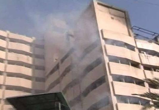 Fire erupts in New Sindh Secretariat building in Karachi