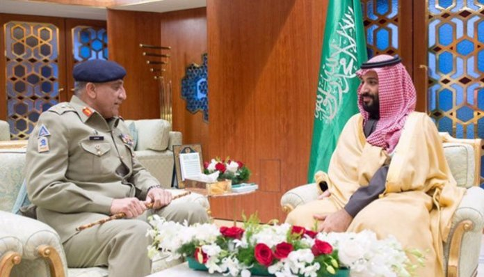 Army Chief Gen Bajwa meets Saudi crown prince in Riyadh