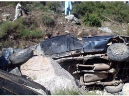 Five killed, 13 injured as pickup plunges into ravine in Shangla