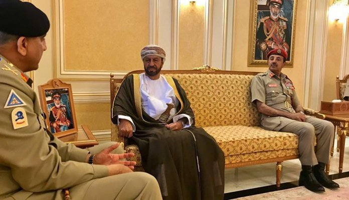Army Chief General Bajwa calls upon Oman's defence minister