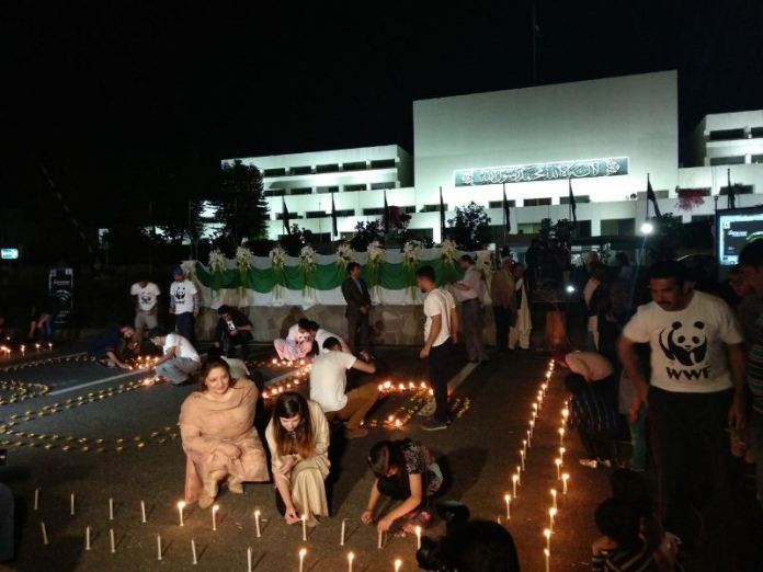 Earth Hour observed in Pakistan