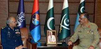 Air chief Mujahid Anwar calls on CJCSC General Zubair
