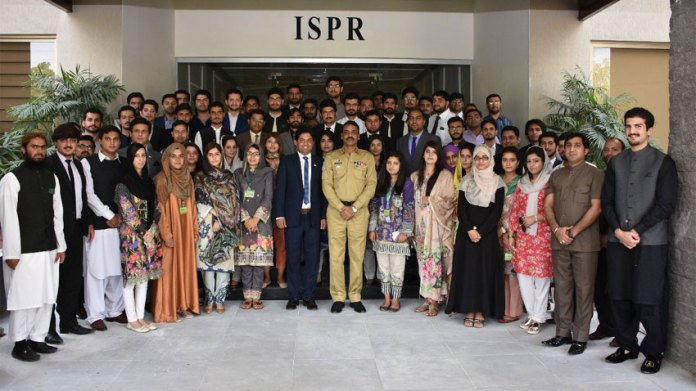 National Youth Assembly delegation visits ISPR Hqrs