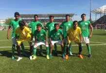 Pakistan street child football team returns home