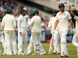 1st Test: England 37-2 in 2nd Innings, Pakistan lead by 142 runs