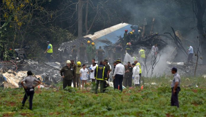 At keast 110 dead as passenger plane crashes in Cuba