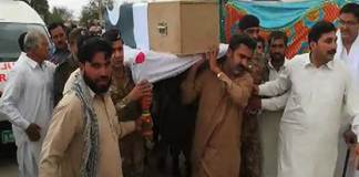 Funeral prayer of martyred Colonel Sohail Abid offered