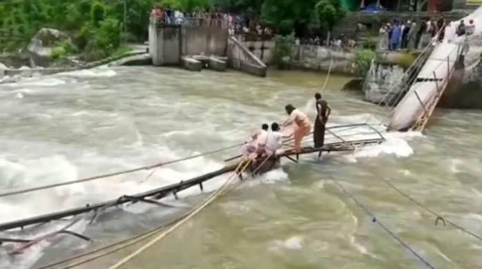 Neelum Valley bridge collapse incident death toll reaches 12