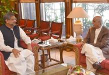 PM Abbasi, Khursheed Shah's meeting ends inconclusive on caretaker PM