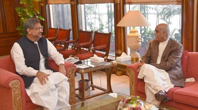 PM Abbasi, Khursheed Shah meeting today over caretaker govt