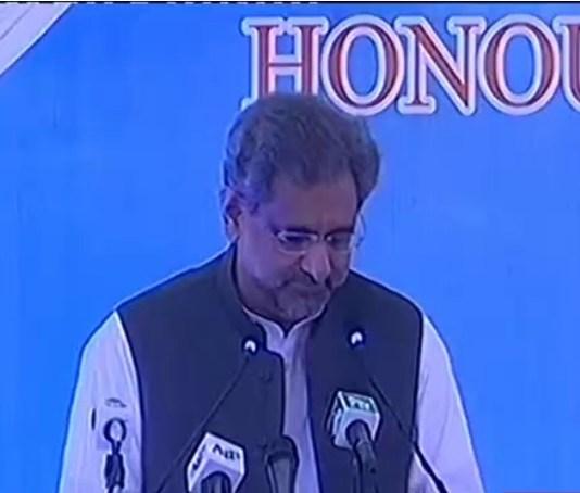 PM Abbasi in Karachi, announces grant for Cancer Care Hospital