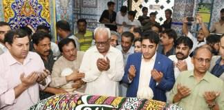 Bilawal visits Abdul Shah Ghazi's shrine, Lyari
