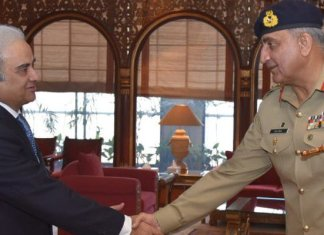 Caretaker PM Nasiurl Mulk, Army Chief Gen Bajwa hold meeting