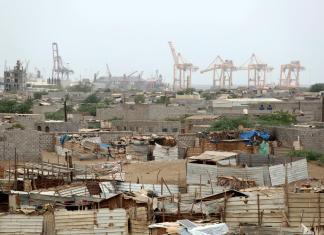Saudi-led coalition conducts air strikes on Yemen's Hodeidah airport
