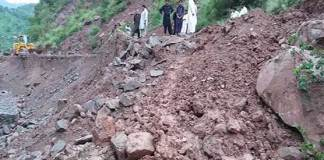 Five killed in landslide on passenger van in Azad Kashmir