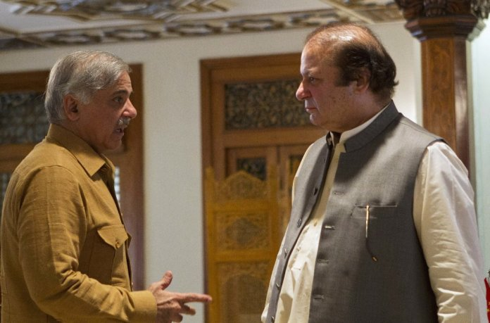 Shehbaz calls on Nawaz, Maryam at Adiala Jail