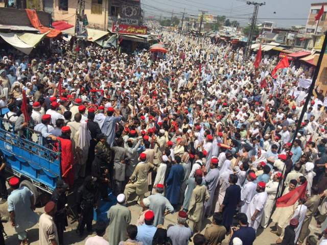"CHARSADDA: On the call of its chief Asfandyar Wali Khan, the Awami National Party (ANP) has staged protest demonstrations across the Khyber Pakhtunkhwa against the alleged rigging in the July 25 General Elections. The main protest gathering was held at Farooq Azam Chowk in Charsadda participated by ANP supporters in large numbers. ANP Chief Asfandyar Wali Khan and Afrasiyab Khattak addressed the gathering and rejected the election results. They demanded re-election and alleged that the July 25 General Elections were held to support one party. Similarly, protest demonstrations were held in other parts of the province including Mardan, Peshawar, Bajaur, Swabi, Nowshera, Bannu and other districts against elections rigging. ANP workers in large numbers participated in the protest demonstrations. At Charsadda's Farooq Azam Chowk, where protests have been going on since the announcement of the results, protesters and security forces came face to face. An additional contingent of police were called to clear the way for a security forces' convoy. ""We know who is behind this rigging,"" the ANP chief said, adding that, ""We are the followers of Bacha's Khan philosophy of non-violence."" Wali said the ANP workers worked day and night to make these elections successful. On the day of voting, ""aliens"" came and had their favourites win the elections. ""We won't forgo our right at any cost,"" said the ANP chief. ""When my daughter asked for Form-45, she was told to worry about her honour,"" Wali said. He said that there was no point in recounting as the ballot boxes had been filled with ""bogus"" votes. The ANP's Swabi youth president Shahid Yousafzai alleged that the playing field had been leveled for a single party in the district and other parties had been sidelined. Swabi vice president Shehryar Khan said that the public mandate had been stolen and the administration and election commission had failed to hold free and fair elections. He said that they had recorded their complaints with the returning officers on polling day, but to no avail. Khan added that their applications for a vote recount were not honoured and no reason was given. The ANP in Lower Dir held a protest against the ECP at Timergara's Shaheed Chowk. The protest was led by ANP district president Hussain Shah. In Battagram, protesters dispersed after blocking the Karakoram Highway for three days. Pakistan Raah-e-Haq party candidate from NA-12, Ata Muhammad Deshani, had demanded a recount but this was not accepted despite a three-day protest. PTI's candidate was declared the winner from the constituency. Four people were reported injured after the security forces opened fire on PML-N supporters who were protesting again rigging in NA-13 and demanding a recount. The protesters dispersed after they were given assurances of a recount. However, the area is still tense. The MMA and ANP supporters in the district have been protesting against what they say is rigging. Several requests of the MMA candidates for a recount in Upper and Lower Dir have been rejected."